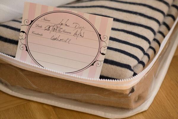 Knitwear bag   Natural moth prevention